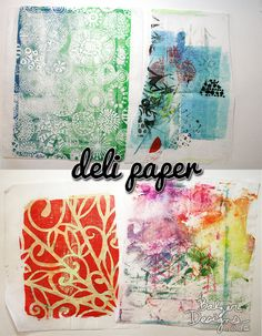 Delipaper- Julie Balzer paper stash ideas