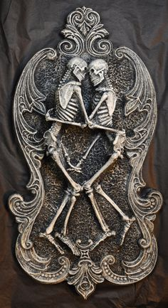 Amor Aeternus Wall Plaque by Dellamorteco on Etsy.
