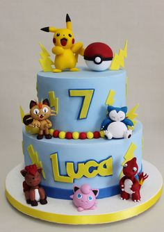 27+ Brilliant Picture of Pokemon Birthday Cake Pokemon Birthday Cake Pokemon Go Cake Violeta Glace Cakes Cupcakes Ect Pinterest  #CoolBirthdayCakes