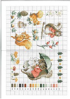 Free Beatrix Potter Animals Cross Stitch Chart