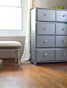 Modern Masters Metallic Paint on Furniture