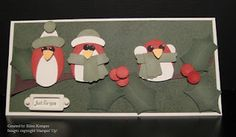 Cold birds - adorable punch art!