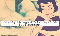 Anything Disney makes me instantly happy.