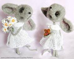 Mouse Sofia - Amigurumi Crochet + Knitting (dress) Etsy