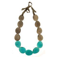 Pretty & simple stone necklace - colorblocked