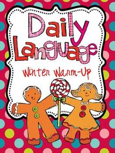 Daily Language Winter Warm Up for first grade