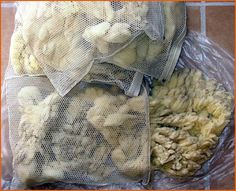 Washing Grease Fleece, from gfwsheep.com    Straightforward description & pix on how to clean animal fibers.
