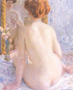 Reflections (Marcelle)  Frederick C. Frieseke
