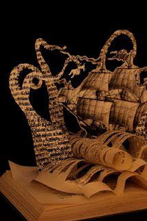 The Kraken altered book sculpture