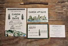 Rustic Woodland Water Color Wedding Invitation  by WideEyesDesign, $2.00