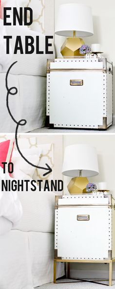 sarah m. dorsey designs: End Table to Nightstand | Pottery Barn Ludlow Trunk Knockoff.