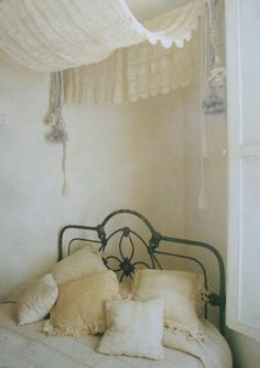 headboard, bed frames, vintage lace, lace curtains, canopy beds, wrought iron, romantic lace, bed canopies, bedroom