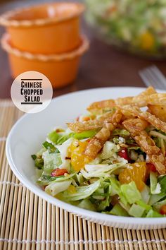 T want this for lunch tomorrow! Chinese Chopped Salad | www.tasteandtellblog.com