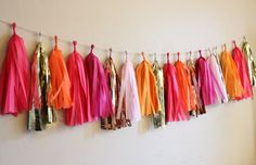 TIssue Tassel Garland Electric Love by TheFlairExchange on Etsy, $32.00
