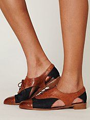 Jeffrey Campbell Parlor Oxford #freepeople #shoes #JeffreyCampbell