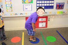 Students hop on a dot for each sound they hear.