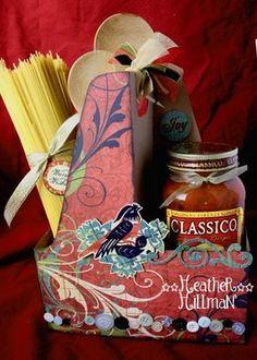 altered drink carrier gift  #gift, #secretpal, #homemade, #neighbor, #cooking