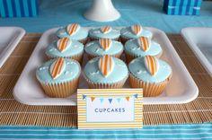 Surfboard cupcakes