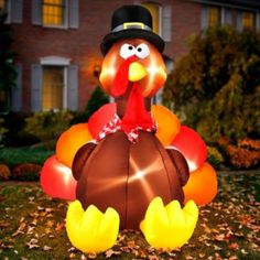 A Inflatable Turkey Fall Decor
