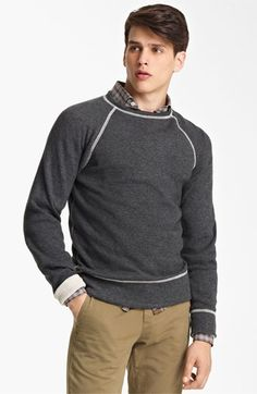 Billy Reid Raglan Crewneck Sweatshirt
