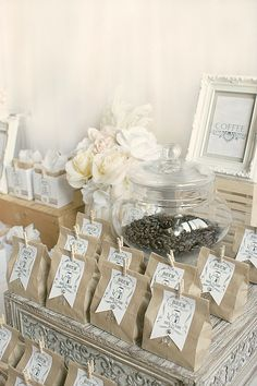 Party favor bags for coffee lovers!
