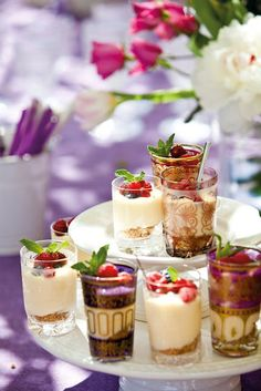 Lovely way to serve mini desserts..
