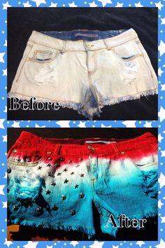 DIY 4th of July shorts