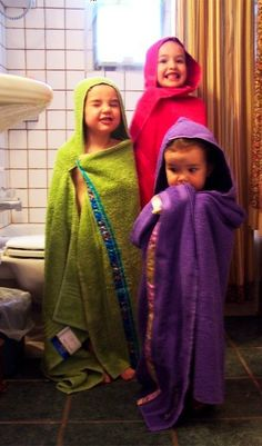 We had these when I was little... make your own hooded towel :)