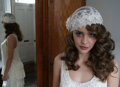 Vintage wedding hat and can come with a veil....