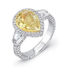 diamond engag, bezel set, shape diamond, diamond bezel, yellow diamonds