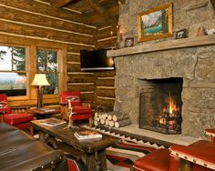 English lodge design pictures remodel decor and ideas for Camo living room ideas