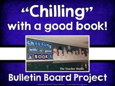 """Chilling with a great book!"" Winter Bulletin Board Project"