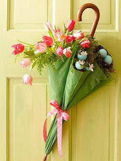 cute for a spring-y door!