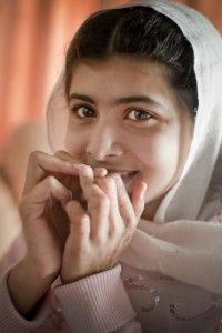 A very brave girl! -- In October 2012, Malala Yousafzai was shot in the head by Taliban gunmen, but survived. Now, in her first public appearance since the attack, she will stand with the UN in calling for youth around the world to have access to education (Photo Credit: Veronique de Viguerie/Getty Images).