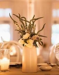 Formal Cylinder Vase Centerpiece