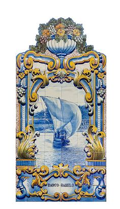 Azulejos - #portuguese tile in Pinhao, #Portugal