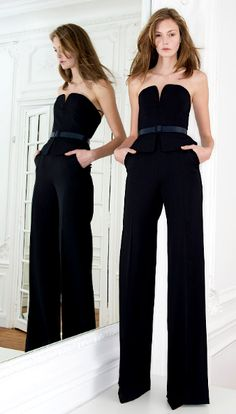 Bustier pantsuit from Martin Grant Fall 2014. GET IN MY CLOSET!!