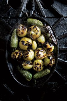 I fell in love with charred tomatillos and jalapeños while living in Texas. They add great flavor to so many dishes! | Garden & Gun