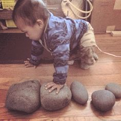 Foraged some larger rocks for my #hooplemandalas kickstarter (campaign starts Thursday 10/30/14 - signup here for the exclusive presale! http://eepurl.com/cvK9n ) (( #hooplebaby for scale and cuteness!)) - jennyhoople's photo on Instagram