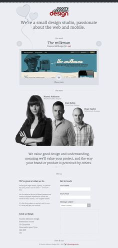 Naomi Atkinson Design, #OnePageDesign