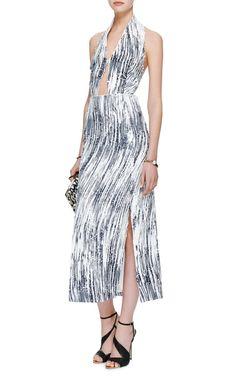 Sequined Cut-Out Halter Dress by Kenzo - Moda Operandi