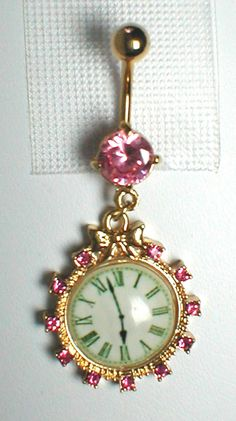 Clock Belly Ring