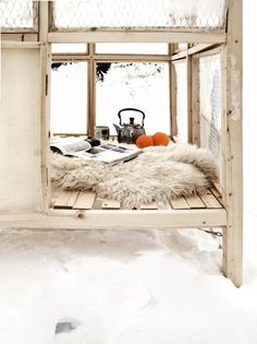 wooden houses, cabin, tea time, cozy winter, chicken coops, shelters, snow, ice fishing, reading nooks