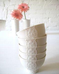 ceramic lace bowls