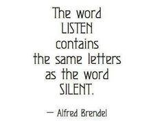 Silence, is amazingly powerful.
