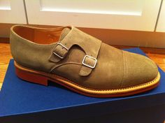 Mark McNairy New Amsterdam Dirty Buck Double Monk Straps - Size 10.5 - $450.00