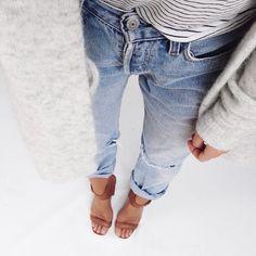 jeans, sweater, heels