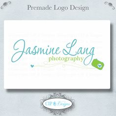 Premade Logo and WatermarkPre made logo by CIPandDesigns on Etsy