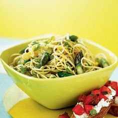Heart Healthy Recipes for 2013—Lemon-Asparagus Pasta. Meat-based sauces quickly rack up saturated fat, but this tangy pasta keeps it heart healthy with fresh asparagus and lemon.