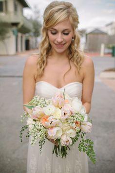 pretty pastel tulip bouquet   Pure 7 #wedding
